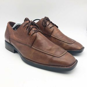 Born Mens Oxfords Shoes Brown Lace Up Square Toe